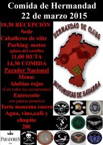 cartel-1marzo Comida de Hermandad
