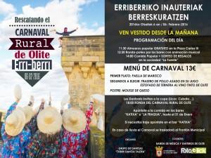 Cartel Carnaval Rural Olite-Erriberri
