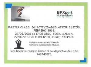 Polideportivo actividades febrero