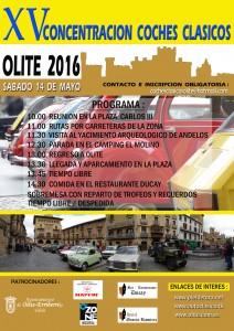 CARTEL CONCENTRACIÓN COCHES CLÁSICOS 2016