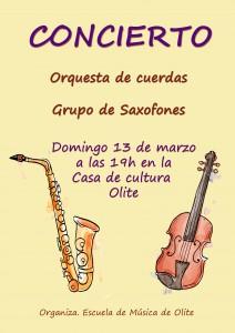 Cartel orquesta y grupo de saxofones-2