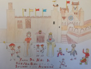 Cartel Fiestas Olite 2016 infantil