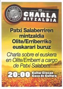 Charla Salaberri euskera
