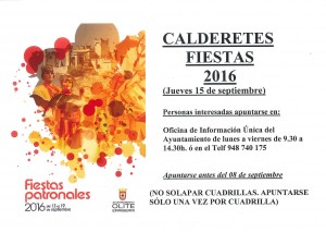 CALDERETES FIESTAS