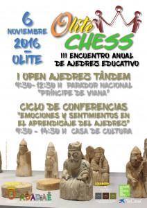 Cartel Olite Chess 2016