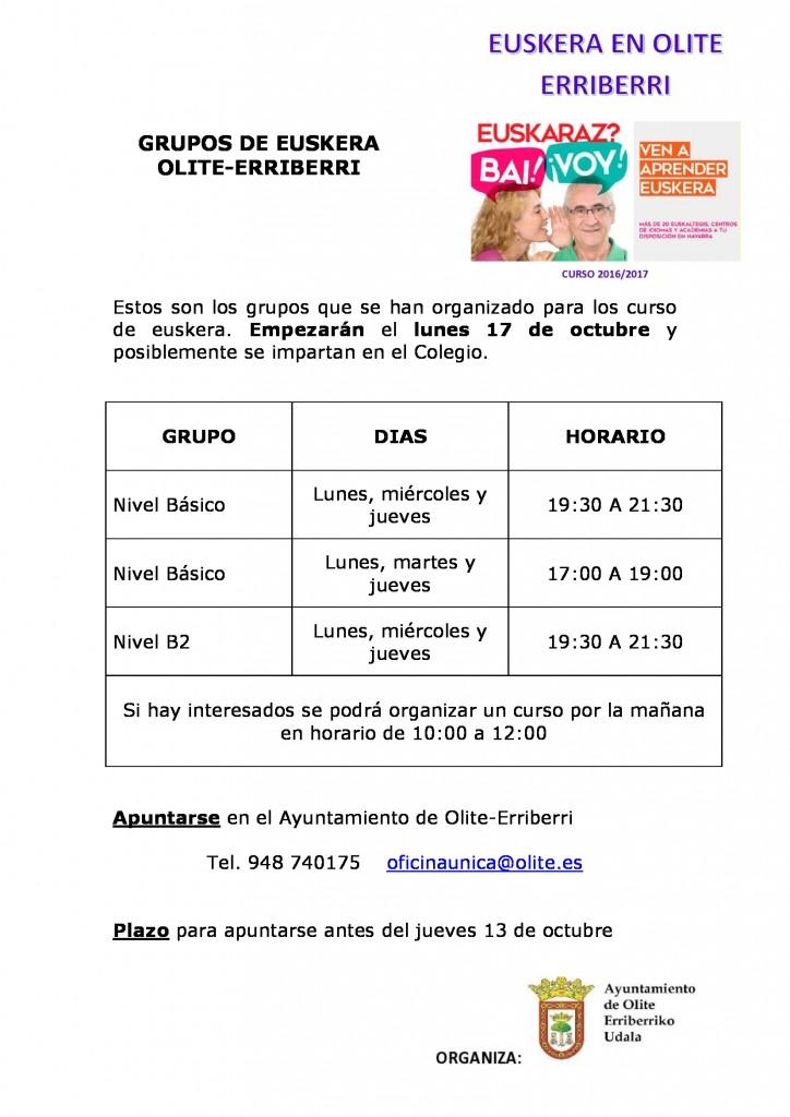 Grupos Euskera Olite-Erriberri
