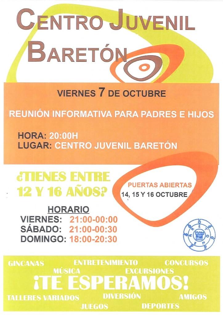 Centro Juvenil Reunion Informativa 7octubre