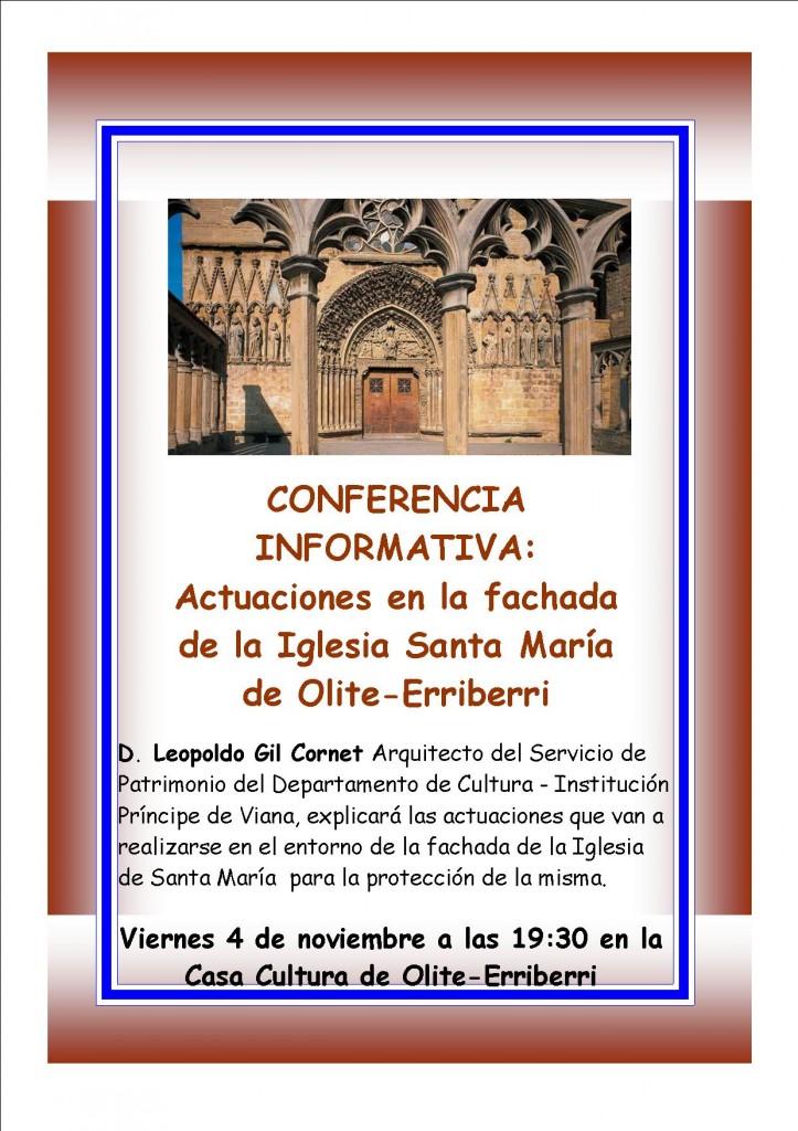 Conferencia Fachada Santa Maria