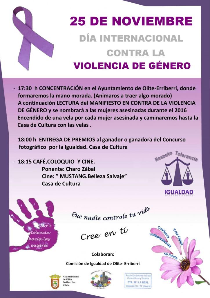 Cartel 25N Violencia genero