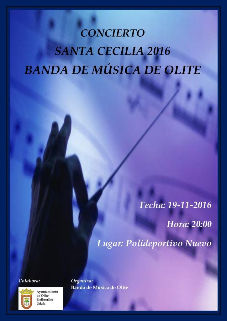 Cartel Santa Cecilia Banda de musica