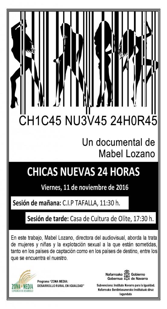 Cartel documental Chicas 24h