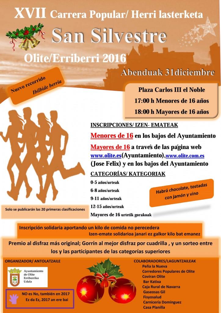 San Silvestre 2016 en Olite-Erriberri