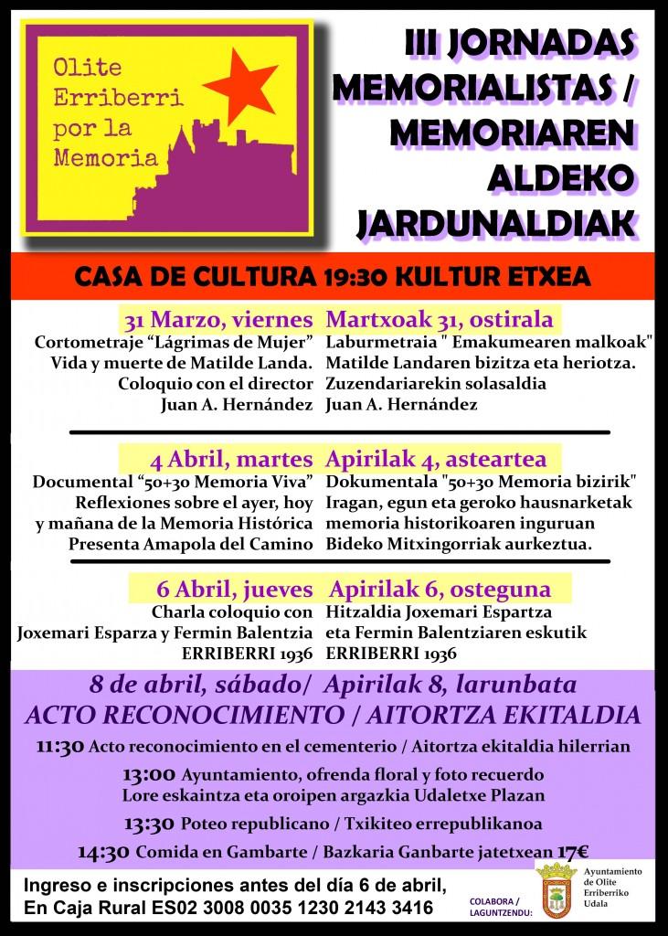 III JORNADAS MEMORIALISTAS logo ayunt