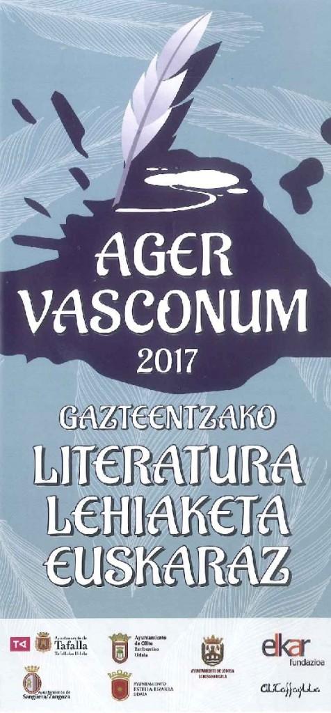 Cartel Concurso literario euskera