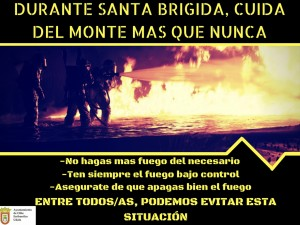 Cartel sobre el fuego SB (castellano)
