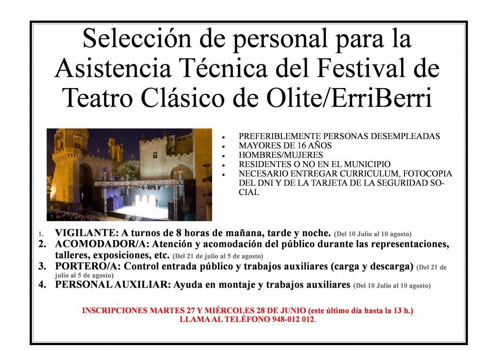 Cartel seleccion persona Teatro Clasico