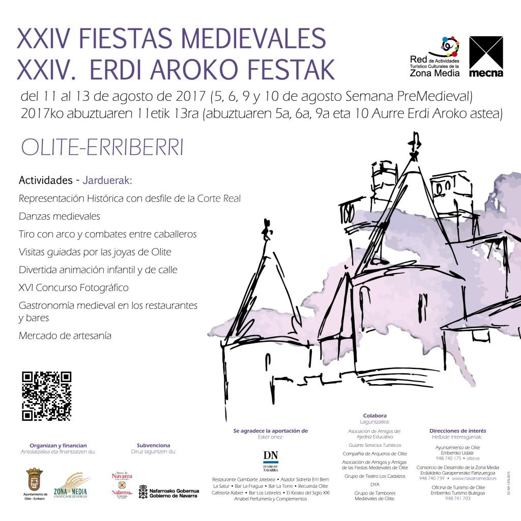 Cartel olite medievales 2017