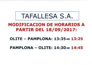 Modificacion horarios tafallesa