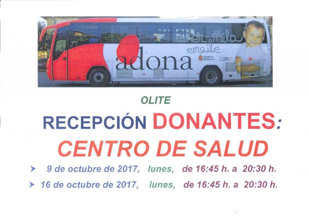 Recepcion donantes de sangre