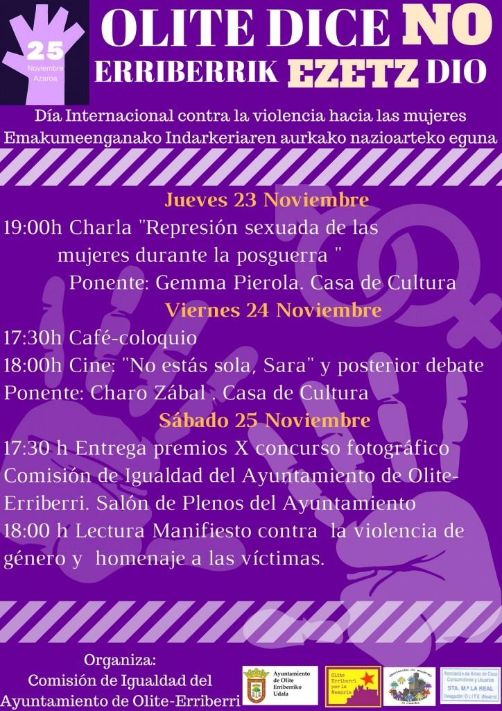 Dia internacional contra la violencia de genero 2017