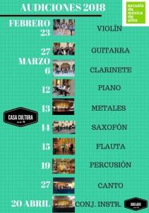 Audiciones Escuela de Musica 2018