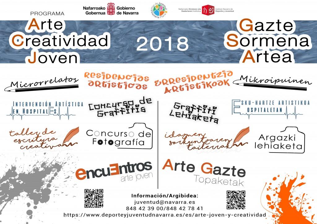 Cartel Arte y creatividad Joven