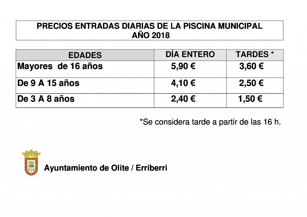PRECIOS ENTRADAS 2018