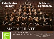 MATRICÚLATE EN LA ESCUELA DE MÚSICA