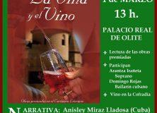 """Acto de entrega de premios del Certamen Literario """"De la viña y el vino"""""""