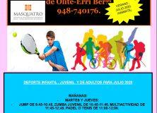 Cursos en el mes de julio en el Polideportivo de Olite-Erriberri