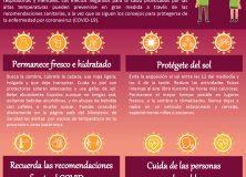 Recomendaciones sanitarias frente al calor durante el brote de COVID-19