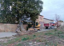 Obras en la Calle Ujué afectada por la riada