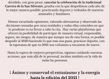 Cancelación San Silvestre 2020