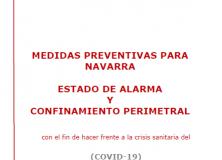 Medidas preventivas para Navarra: Estado de alarma y confinamiento perimetral